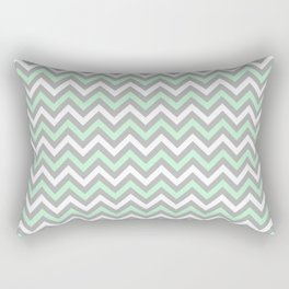 Chevron - mint and grey Rectangular Pillow
