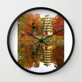 Jade Buddha Pagoda Wall Clock