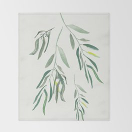 Eucalyptus Branches II Throw Blanket