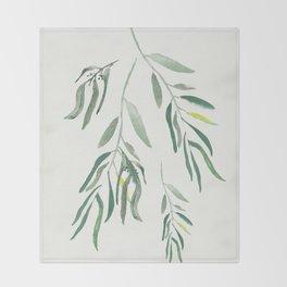 Eucalyptus Branches II Throw Blanket
