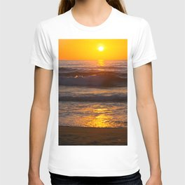 Sunset in the beach T-shirt