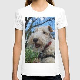 Cheerful Wire Fox Terrier T-shirt