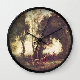 Jean-Baptiste-Camille Corot - La Danse des nymphes Wall Clock