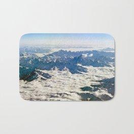 Himalaya mountains under clouds Bath Mat
