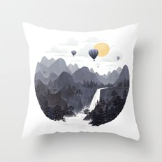 Roundscape II Throw Pillow