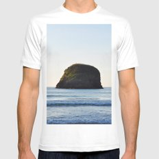 Sea sunset Mens Fitted Tee White MEDIUM