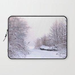 Snowy Landscape Laptop Sleeve