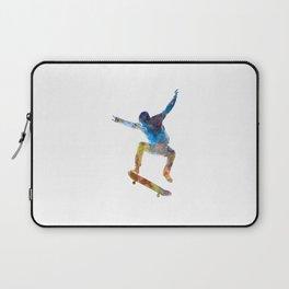 Man skateboard 01 in watercolor Laptop Sleeve