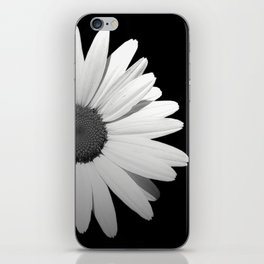 Black & White Half Flower iPhone Skin