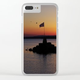 A beautiful sunset view of Lough Neagh Clear iPhone Case