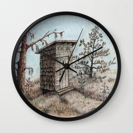OUTHOUSE Wall Clock