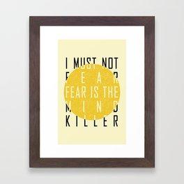 Dune - The Litany Against Fear (BLK) Framed Art Print