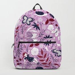 Orchid Navy Garden Backpack