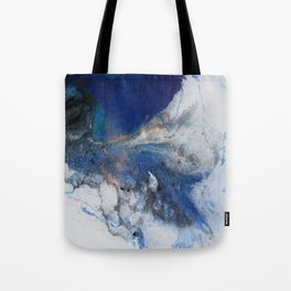 Abstract blue marble Tote Bag
