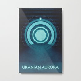Uranus - Uranian Aurora  Metal Print