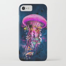 Pink Electric Jellyfish iPhone Case