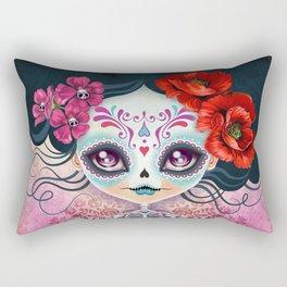 Amelia Calavera - Sugar Skull Rectangular Pillow