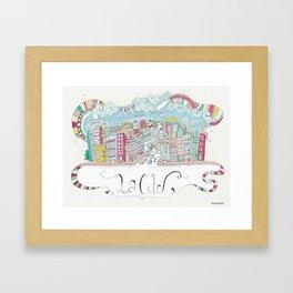 La cité Framed Art Print