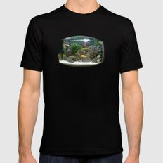 fisheye. MEDIUM Black Mens Fitted Tee