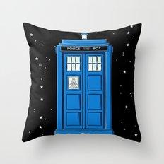 TARDIS in Space Throw Pillow
