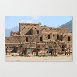 A Taos Pueblo Building Canvas Print
