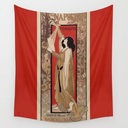 Spanish Barcelona art nouveau photographer banner ad Wall Tapestry