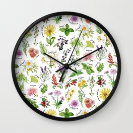 Plants & Herbs Alphabet Wall Clock