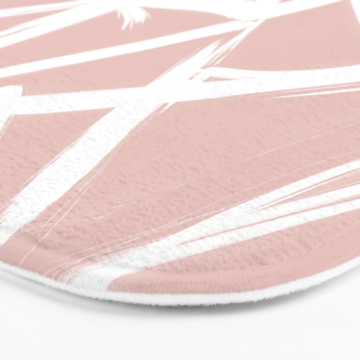 modern white abstract geometric hand painted brushstrokes pale blush