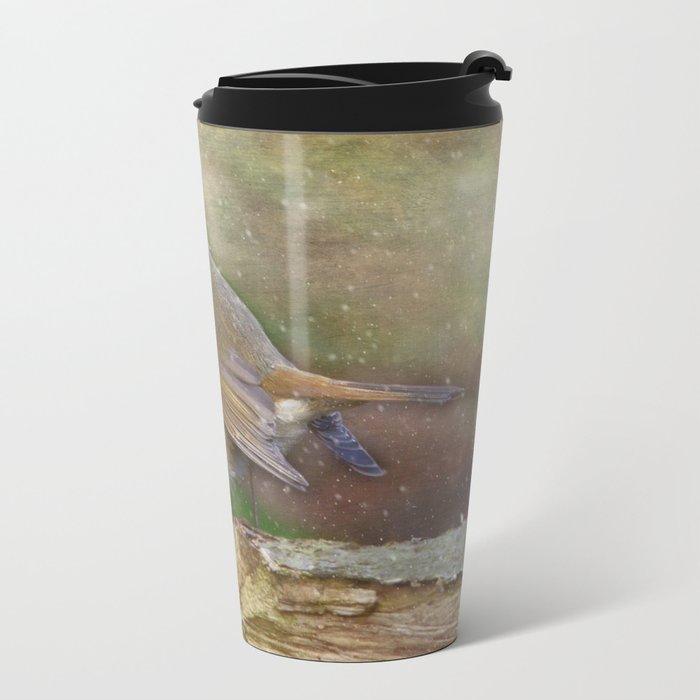 Robin red breast Metal Travel Mug