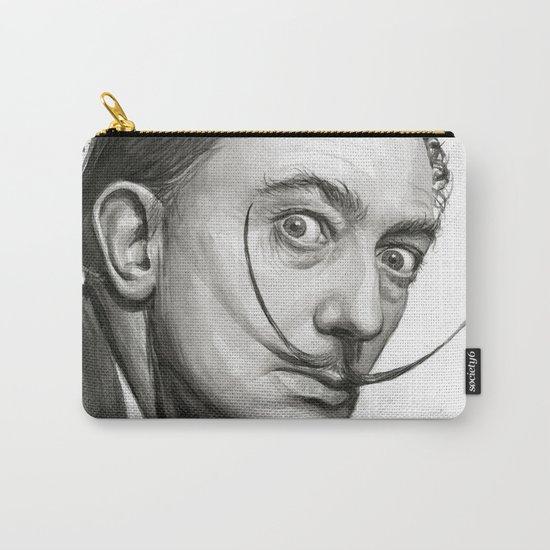 Salvador Dali Watercolor Portrait Carry-All Pouch