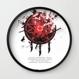 CROSSBREED v2 Wall Clock