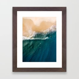Surge - Aerial Drone Photography Framed Art Print