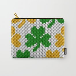 Shamrock pattern - white, green, orange Carry-All Pouch