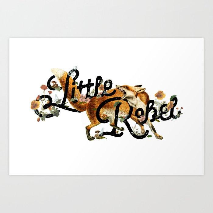 Little Rebel Art Print