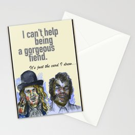 I can't help being a gorgeous fiend - Psych Quotes Stationery Cards