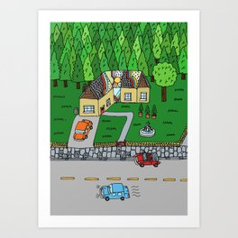 Brick House Art Print
