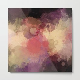 Modern Contemporary Ultra Violet Glow Abstract Metal Print