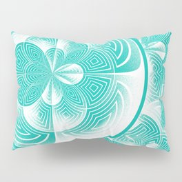 Light turquoise abstract Pillow Sham