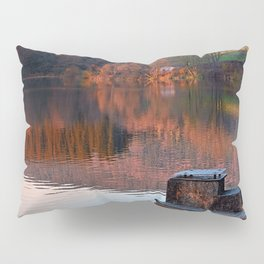 Romantic evening at the lake | waterscape photography Pillow Sham