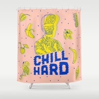 Chill Hard Shower Curtain
