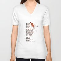 bioshock V-neck T-shirts featuring Bioshock - This is Rapture by Art of Peach