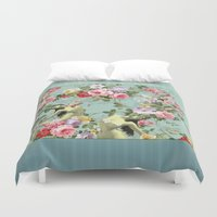 flora Duvet Covers featuring Flora by mentalembellisher