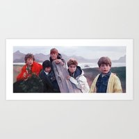 goonies Art Prints featuring The Goonies by lensebender