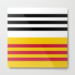 Flag of Loon op Zand Metal Print