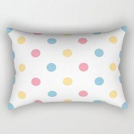 Vintage colorful Dots Rectangular Pillow