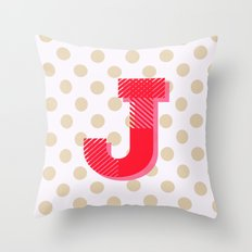 J is for Joy Throw Pillow