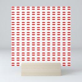 flag of austria 7 - with soft square Mini Art Print