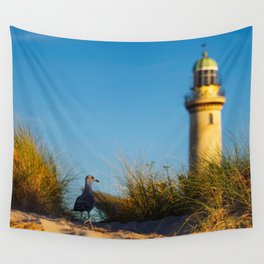 Old lighthouse from Hanseatic city of Rostock Wall Tapestry