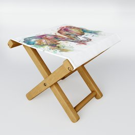 Sunset Elephants Folding Stool