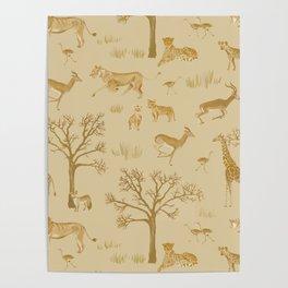 Safari in the Serengeti Poster